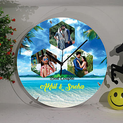 Best Couple Personalised Wall Clock