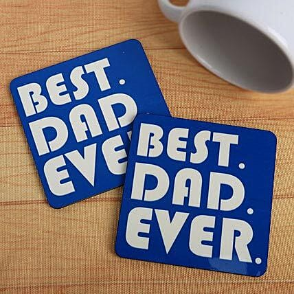 Best dad ever coasters