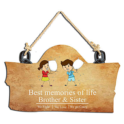 Best of life wooden wall hanging
