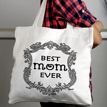 Best Mom Ever Bag-Best white tote bag