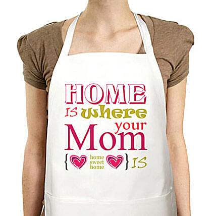Best Moms Apron-Mother special Cute printed white apron:Apparel Gifts