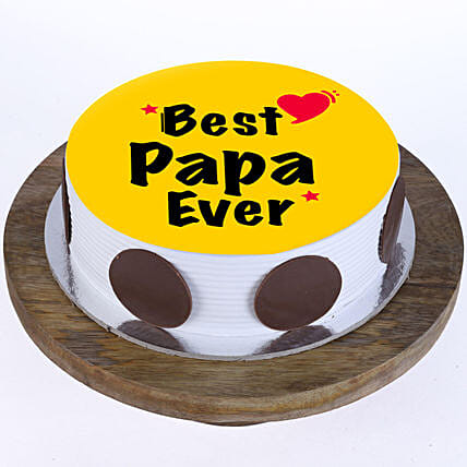 Personalised Cake for fathers day:Fathers Day Egg-less Cake