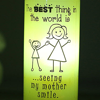 Best Smile Lamp-1 yellow coloured mothers smile lamp:Bottle Lamp