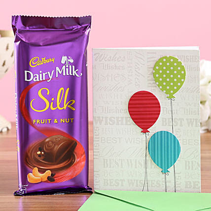 Chocolate with Best Wishes Card Online
