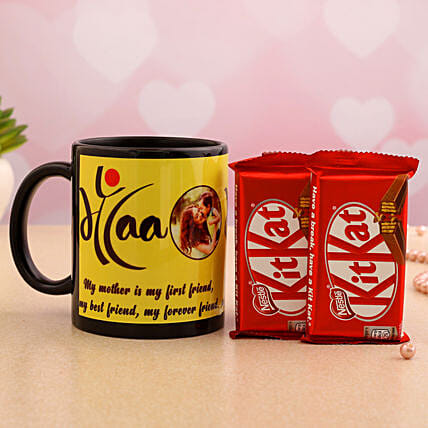 Bestfriend Mother Personalised Mug And Kitkat Hand Delivery