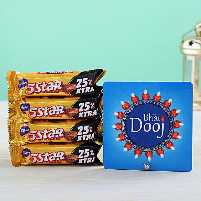 Table Top And Chocolates Treats:Bhai Dooj Chocolates