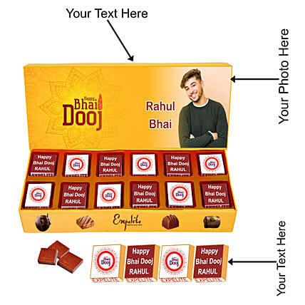 Bhaidooj Personalised Chocolate Box 12 Pcs