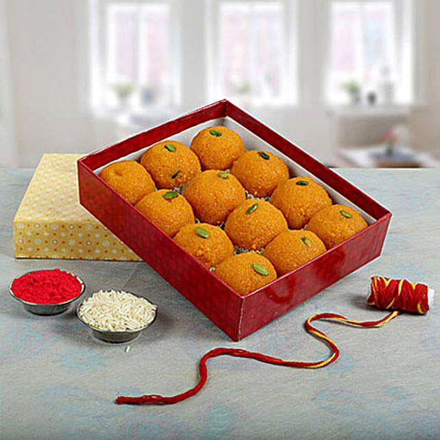 Box of moti choor laddoo:Sweets to Delhi