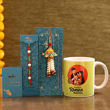 Bhaiya Bhabhi Rakhi with Photo Mug:Send Rakhi with Mugs