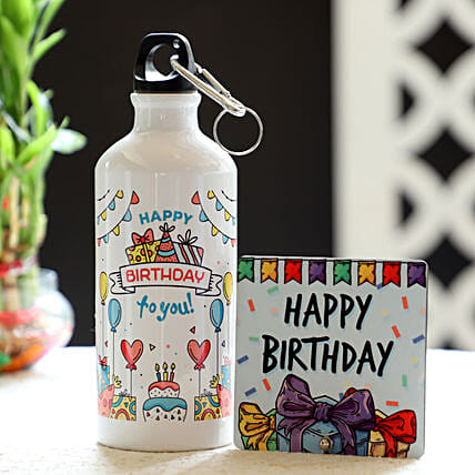 Online Birthday Bottle And Table Top Combo:Gift Combos