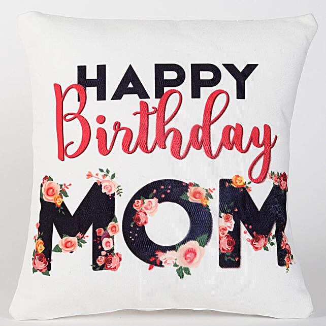 Best birthday mom printed cushion