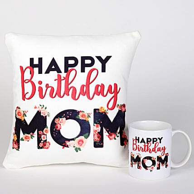 Birthday Cushion Mug Combo For Mom