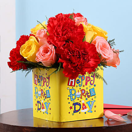 Online Birthday Floral Surpise:Mixed Flowers