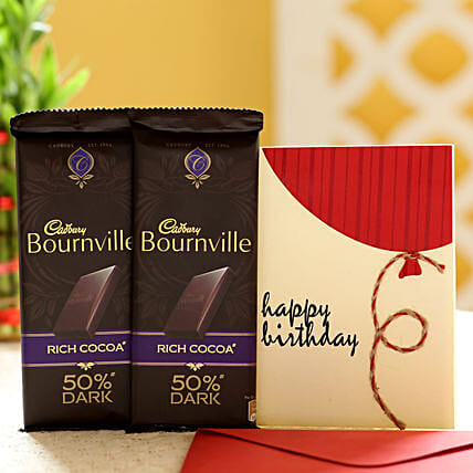 Chocolate and Birthday Greeting Online