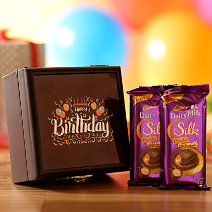 birthday printed box with chocolates online