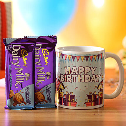 birthday surprise mug with chocolate for him