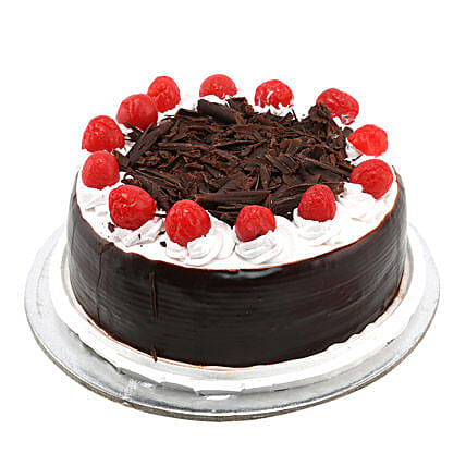 Black Forest with Cherry 1kg:Friendship Day Gifts Hyderabad