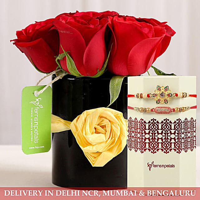 Flower Mug and Rakhi Online