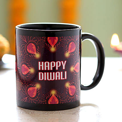 printed diwali coffee mug for him