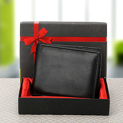 Black wallet for men