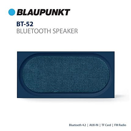 Blaupunkt BT52 10 W Portable Bluetooth Speaker