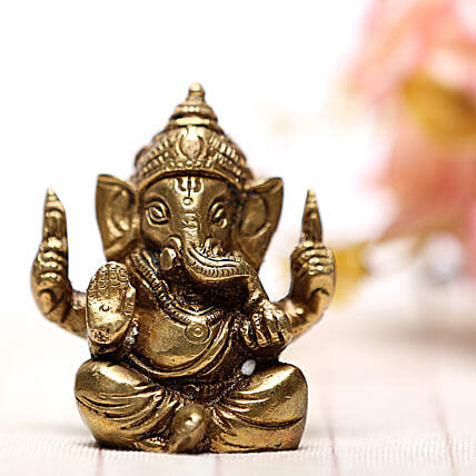 Blessing Of Ganesha-Brass idol of Ganesha:Spiritual Gifts