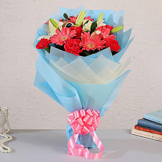 online blissful flower bouquet