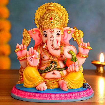 Blissful Ganesh Idol