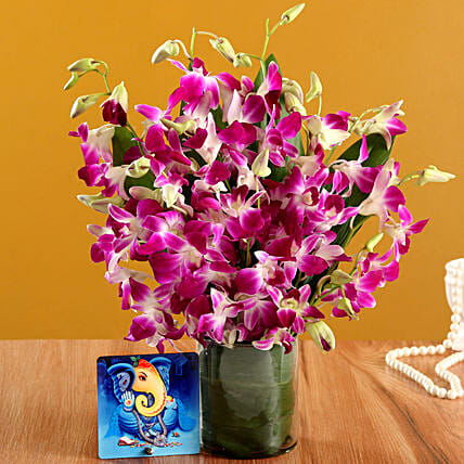 Online Blissful Ganesha Table Top And  Vase:Diwali Table Tops