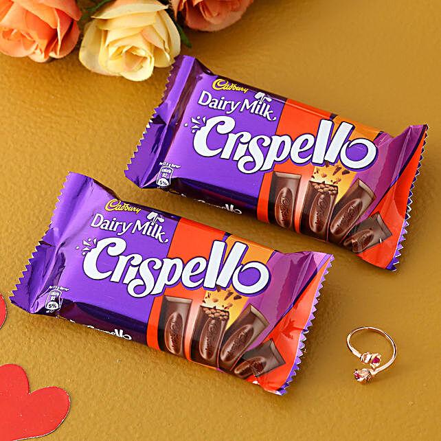 Blooming Rose Ring And Cadbury Crispello
