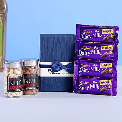 Blue Bow Box Diwali Hamper Small