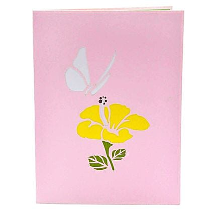butterfly 3d greeting card