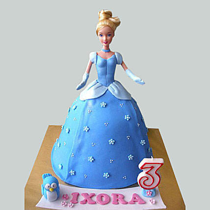 Cinderella Barbie Cake for Kids 2kg