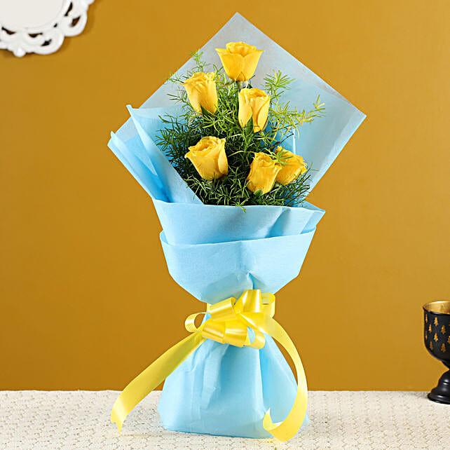 Buy Yellow Roses Bunch