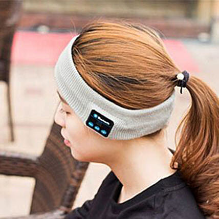 Bluetooth Music Head Band Grey