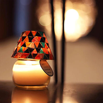 Colourful Lamp with Scented Candle:Send Candles