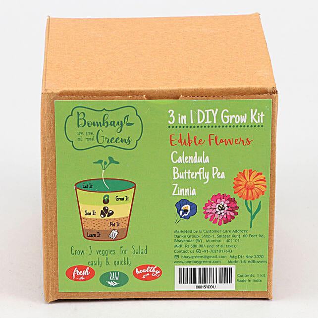 Bombay Greens DIY Edible Flowers Grow Kit