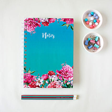 Bouquet Notebook Turquoise