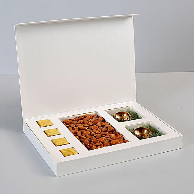 b70252785 Box of Almonds  amp  Brass Diyas