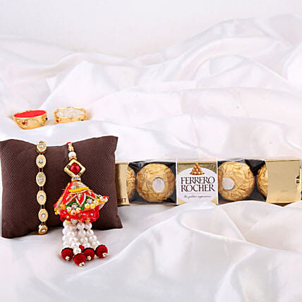 Bracelet & Lumba Rakhi With Chocolates