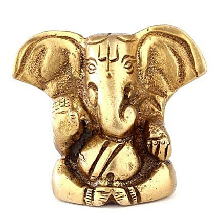 Brass Ganesha Statue-2 inches ideal gifting on different occasions and festis:Spiritual Gifts