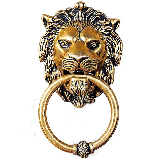 Brass Lion Door Knocker Online