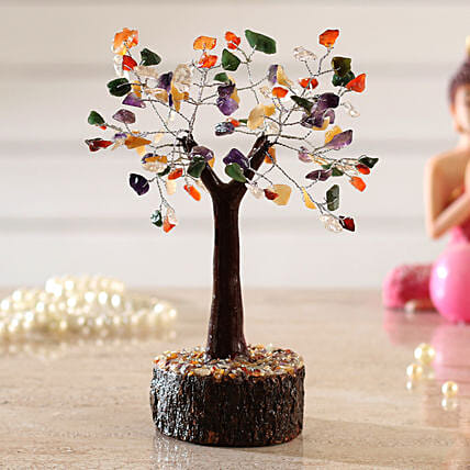 Bright 5 Stones Multicoloured Wish Tree