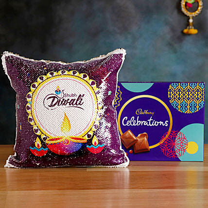 Order Cushion with Celebrations Box