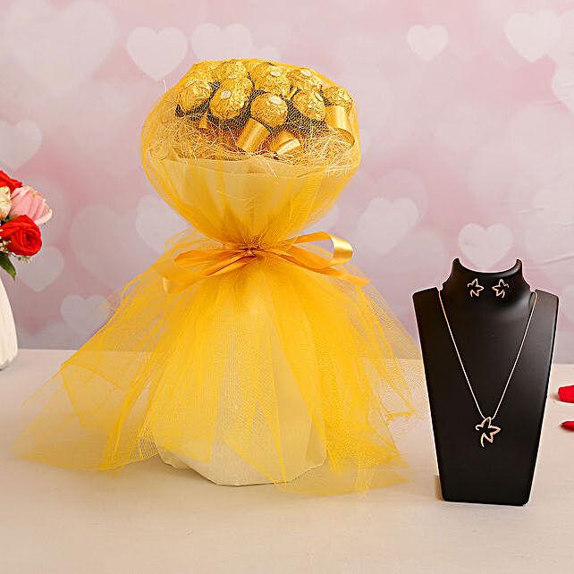 Elegant Ferrero Bouquet & Necklace