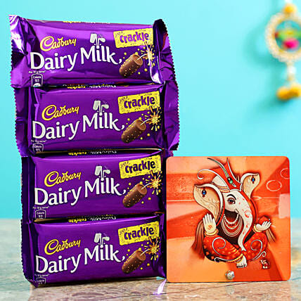 Bright Ganesha Table Top & Dairy Milk Crackle
