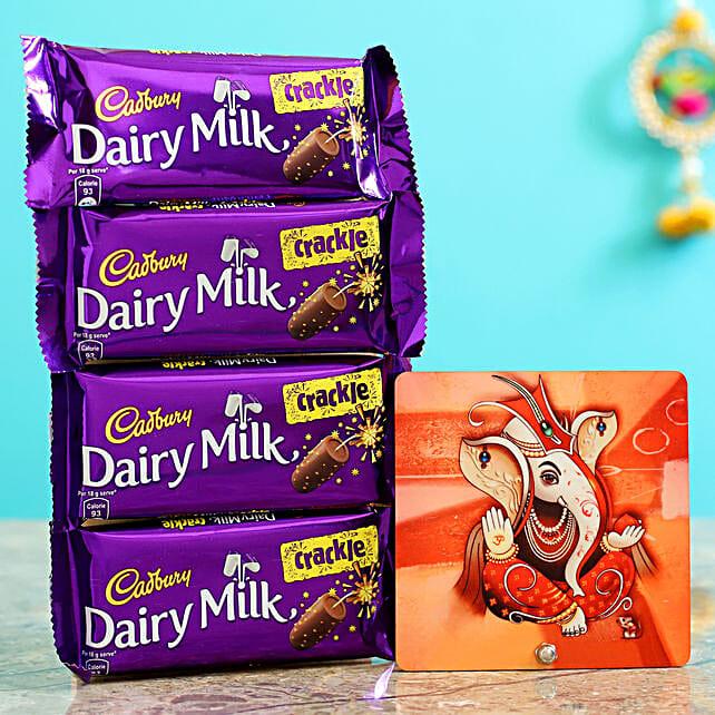 Bright Ganesha Table Top & Dairy Milk Crackle