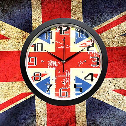 British Flag Wall CLock