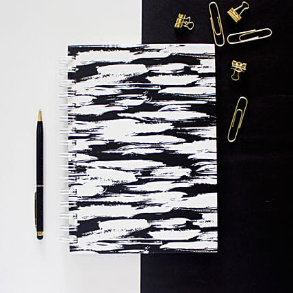 Brushstrokes Notebook Ebony