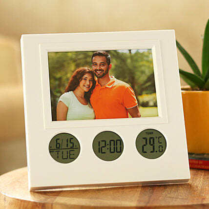 personalised clock frame for couple